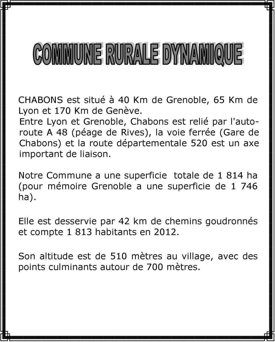 Mairie de chabons 9 rue de l eglise chabons pdf for Superficie grenoble