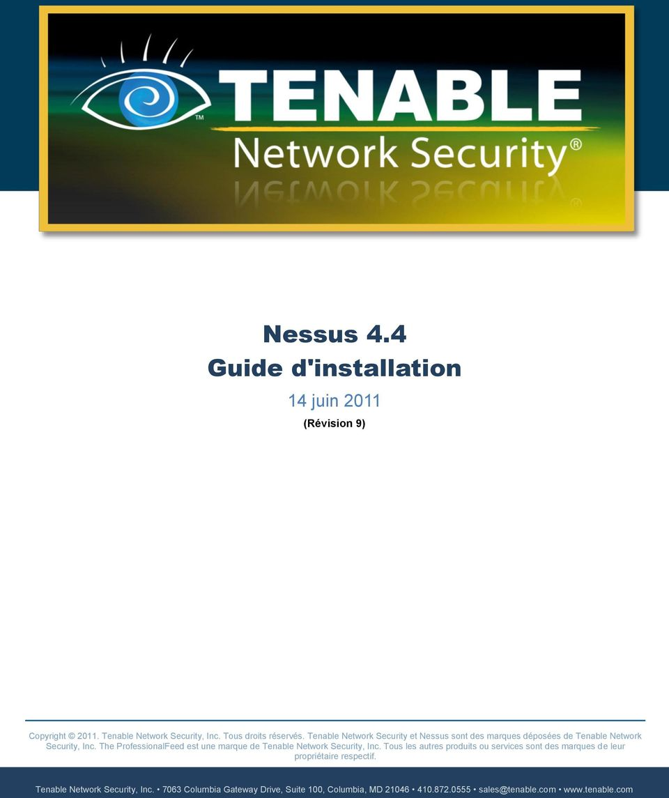 The ProfessionalFeed est une marque de Tenable Network Security, Inc.