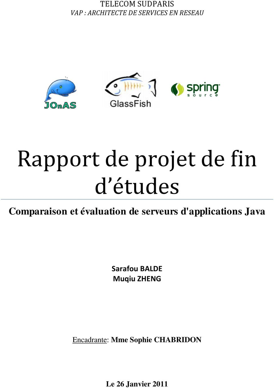 évaluation de serveurs d'applications Java Sarafou BALDE