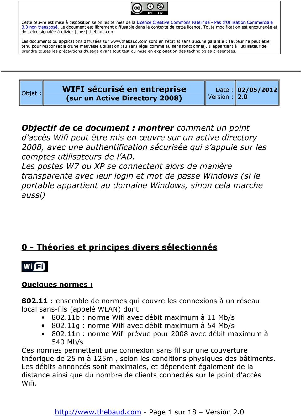 com Les documents ou applications diffusées sur www.thebaud.