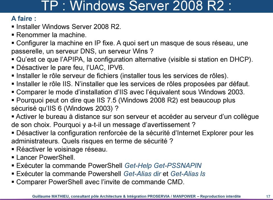 Administration active directory r dig par guillaume - Activer le bureau a distance windows 7 ...