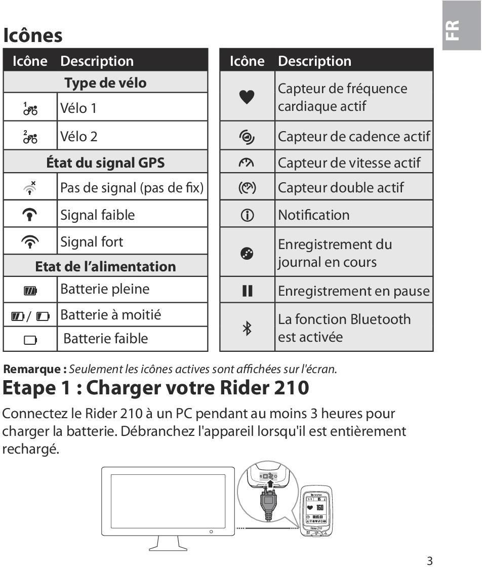 Notification Enregistrement du journal en cours Enregistrement en pause / Batterie à moitié La fonction Bluetooth Batterie faible est activée Remarque : Seulement les icônes
