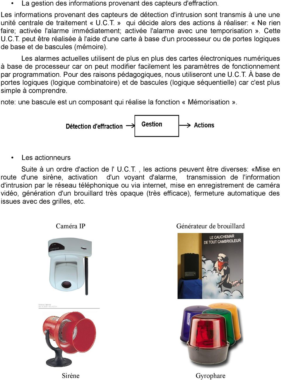 Principes de base d 39 une alarme anti intrusion pdf for Porte logique pdf