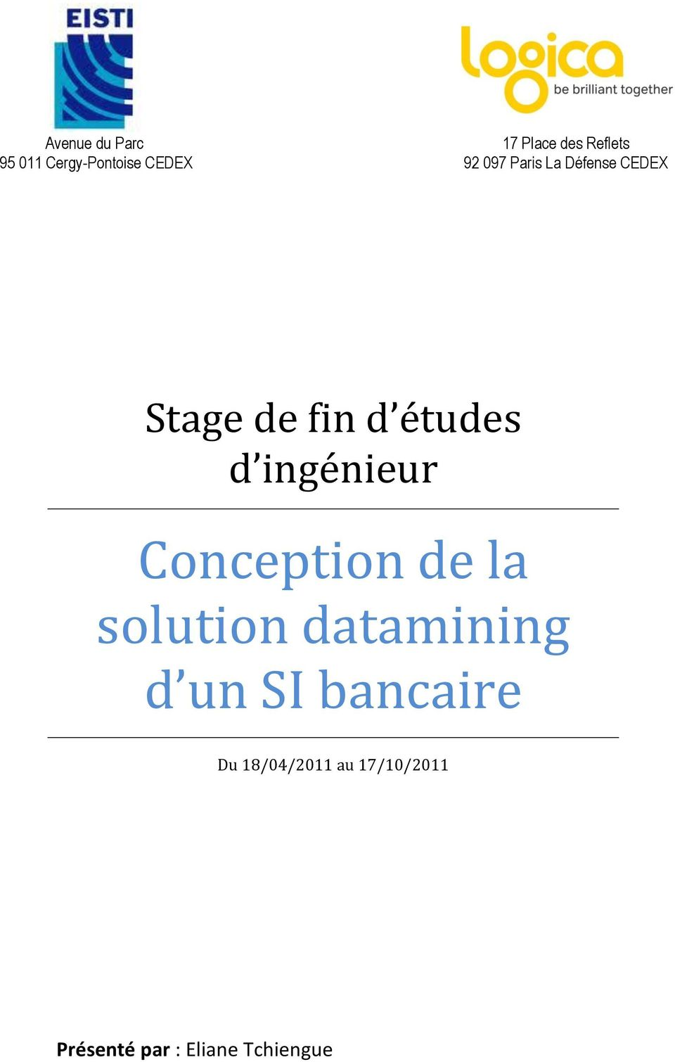 d ingénieur Conception de la solution datamining d un SI