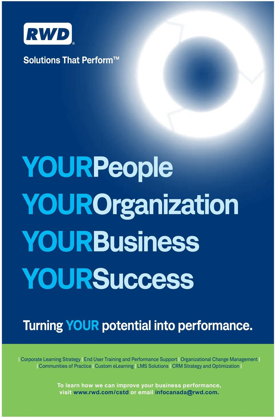 Corporate Learning Strategy End User Training and Performance Support Organizational Change Management