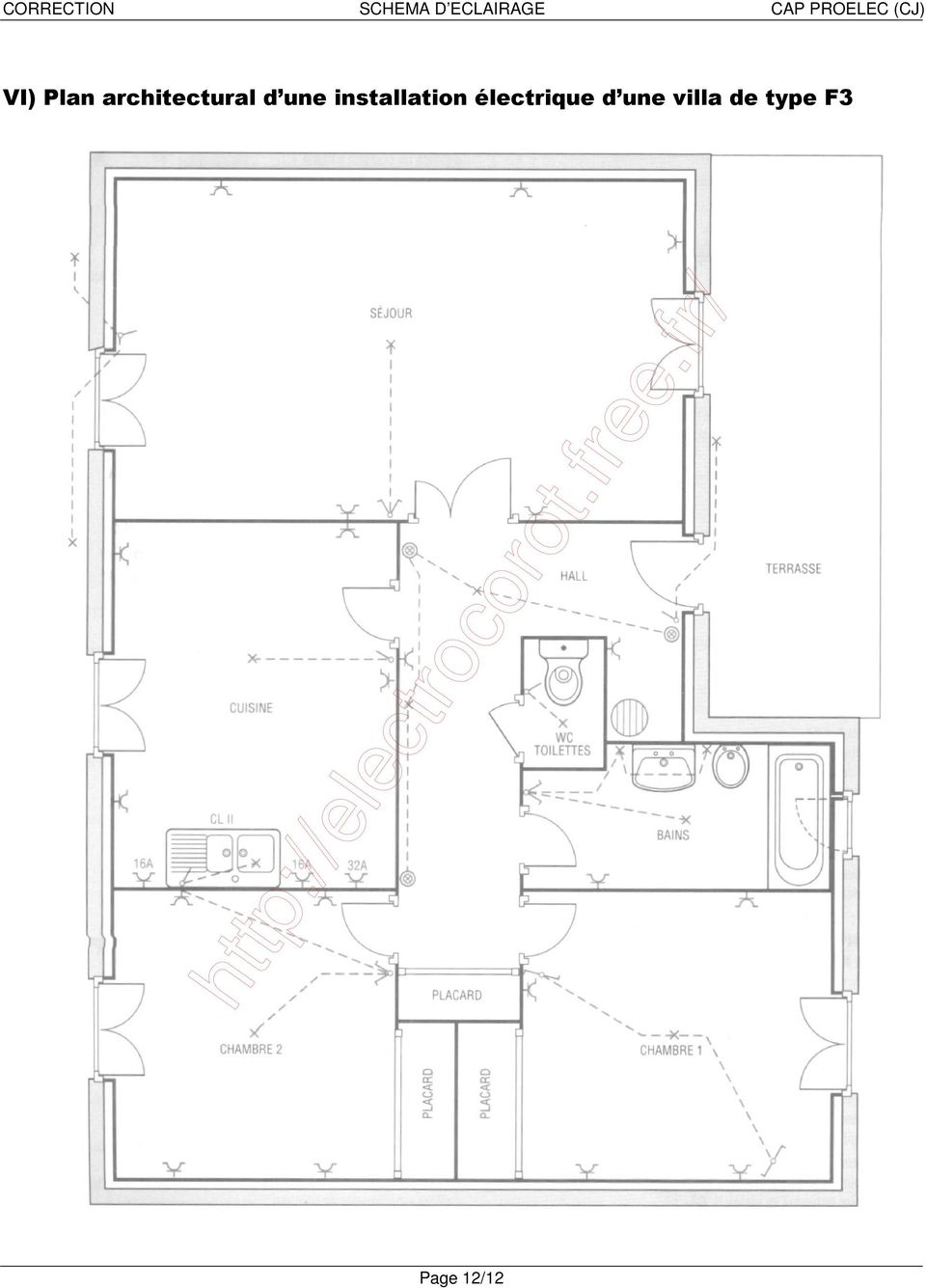 correction schema d eclairage cap proelec cj pdf. Black Bedroom Furniture Sets. Home Design Ideas