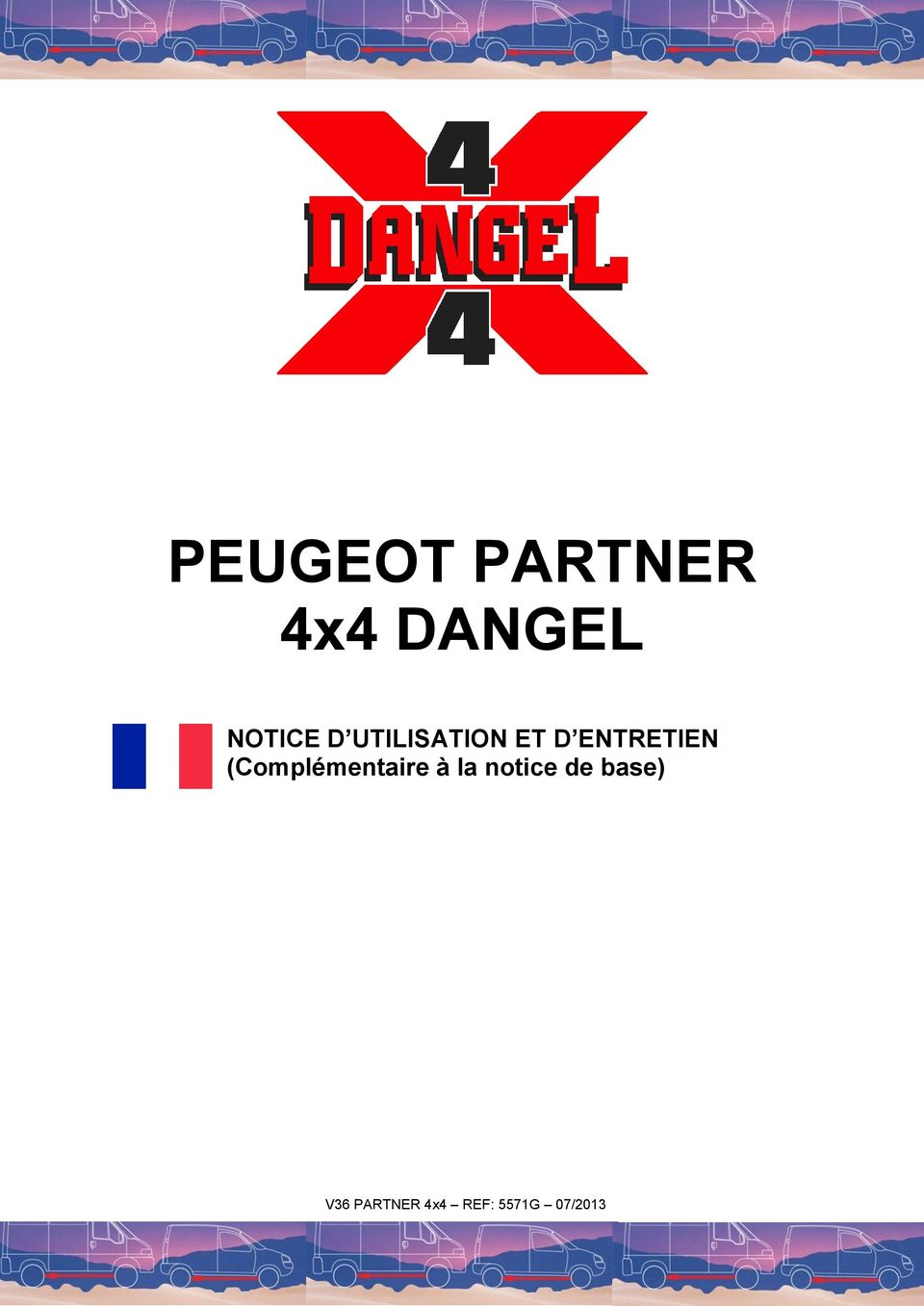 peugeot partner 4x4 dangel notice d utilisation et d. Black Bedroom Furniture Sets. Home Design Ideas