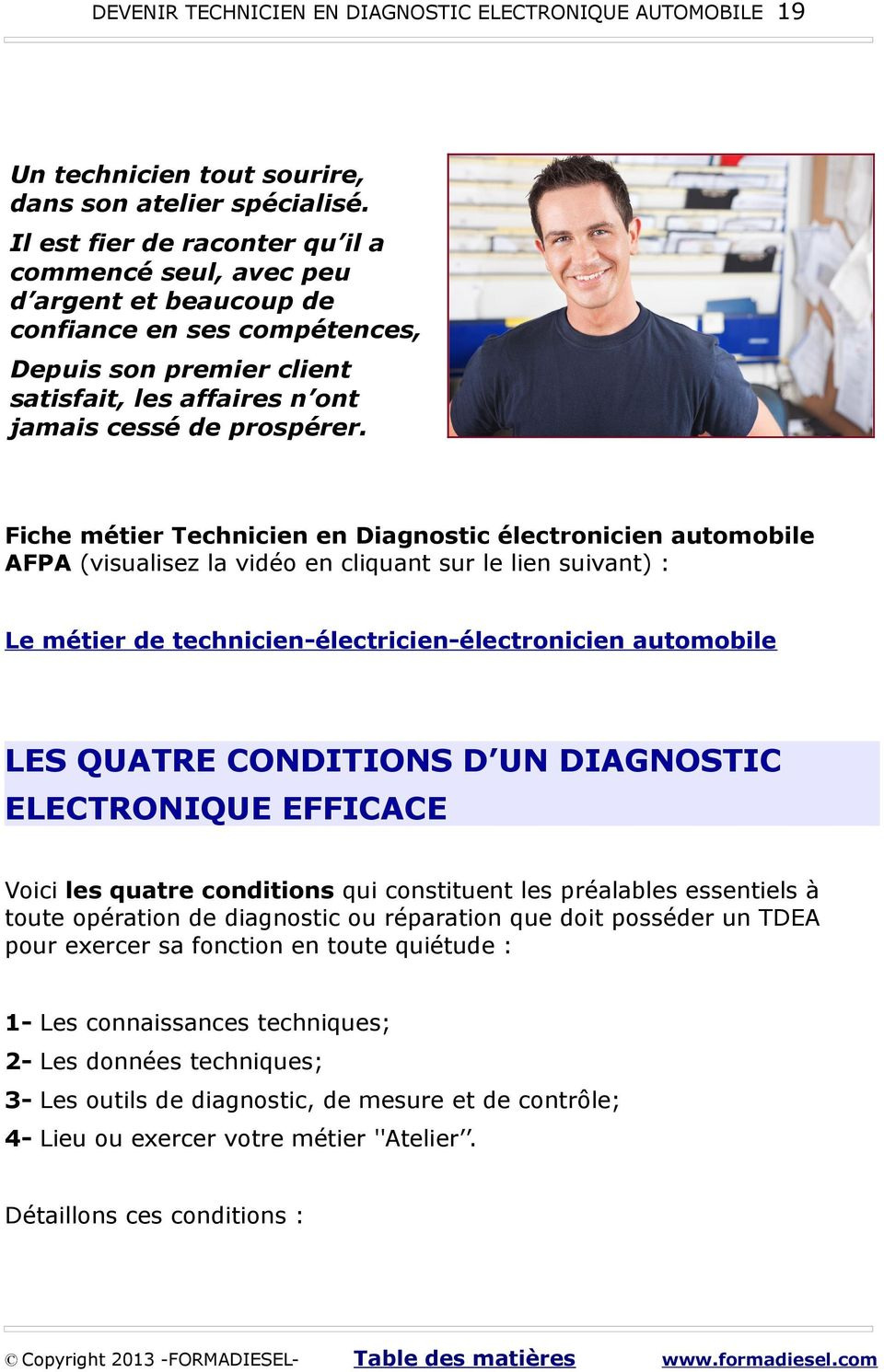 devenir technicien en diagnostic electronique automobile