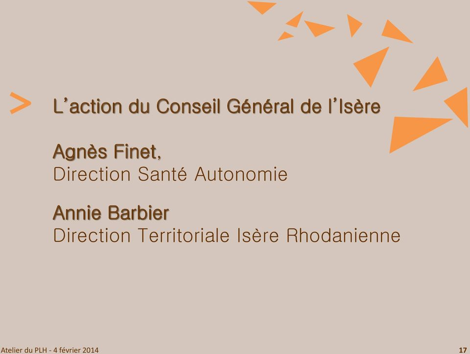 Annie Barbier Direction Territoriale