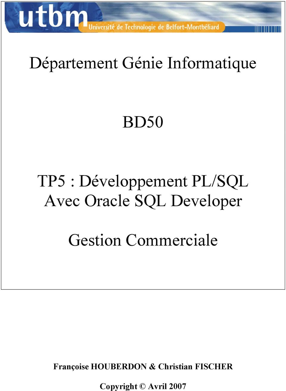 Developer Gestion Commerciale Françoise