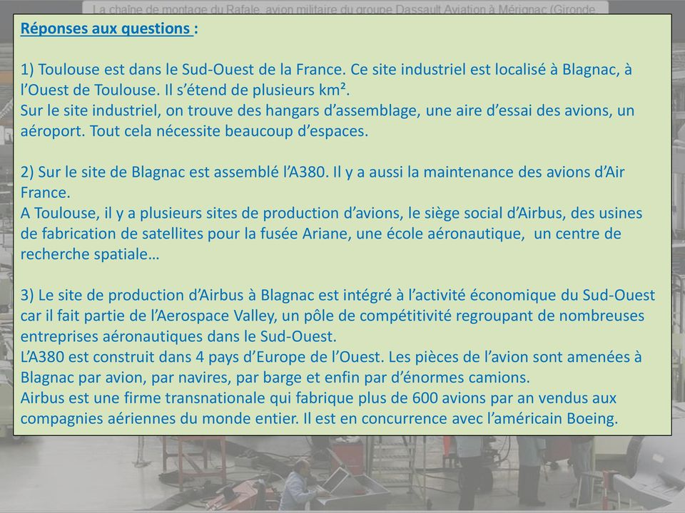 Il y a aussi la maintenance des avions d Air France.