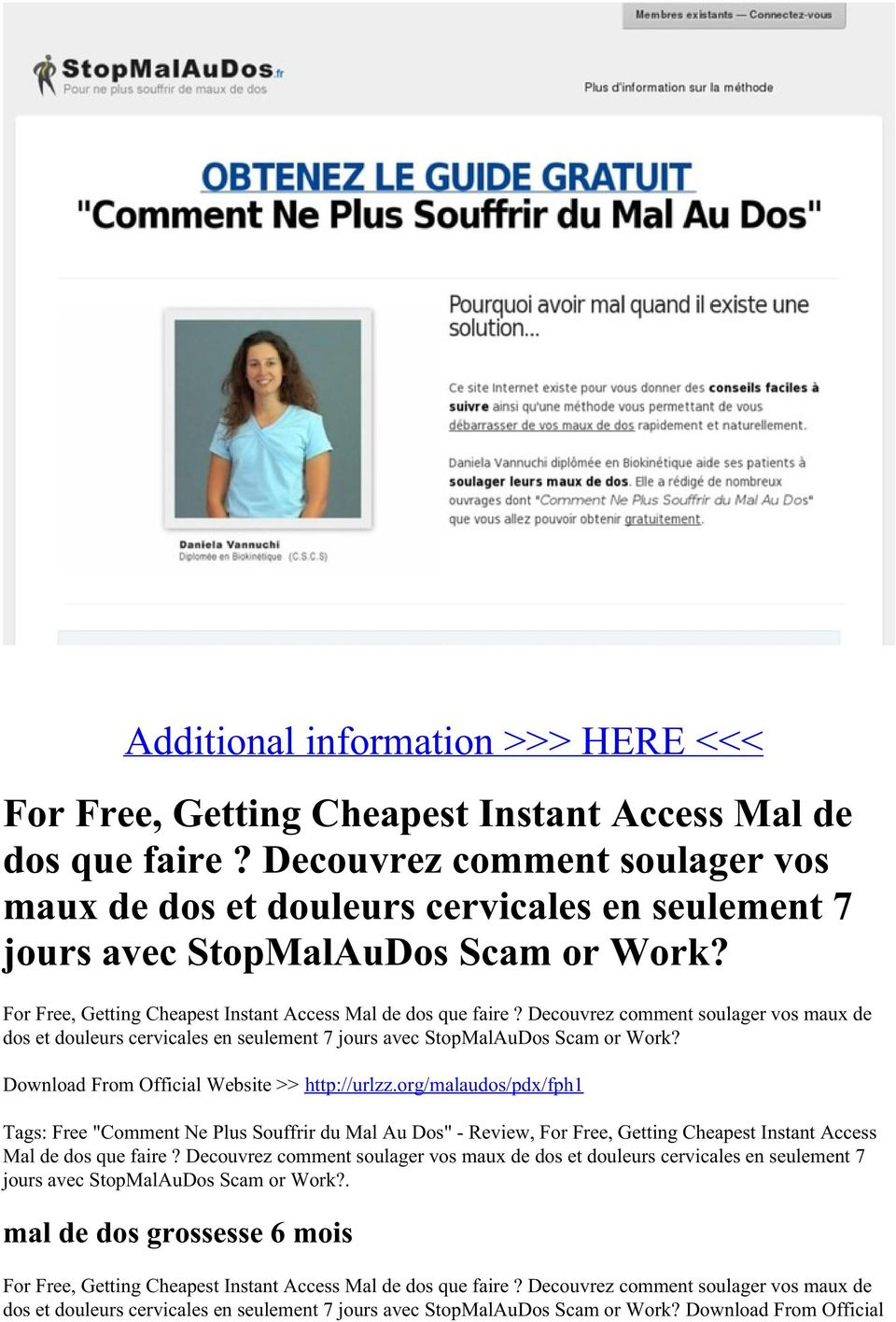 dos et douleurs cervicales en seulement 7 jours avec StopMalAuDos Scam or Work? Download From Official Website >> http://urlzz.