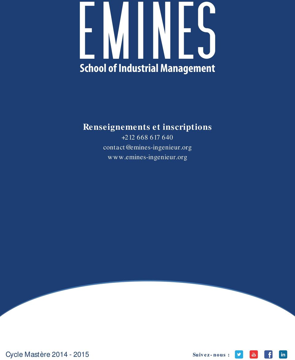 contact@emines-ingenieur.org www.