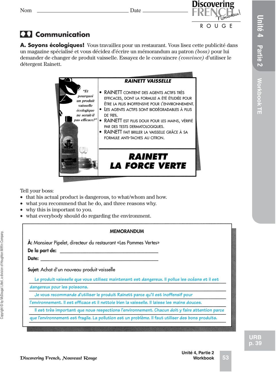 discovering french workbook answers