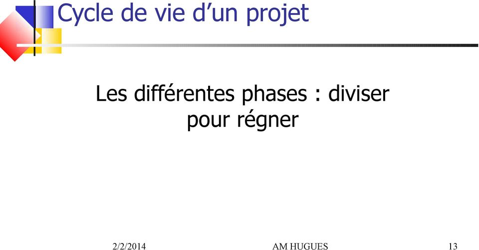 différentes phases :