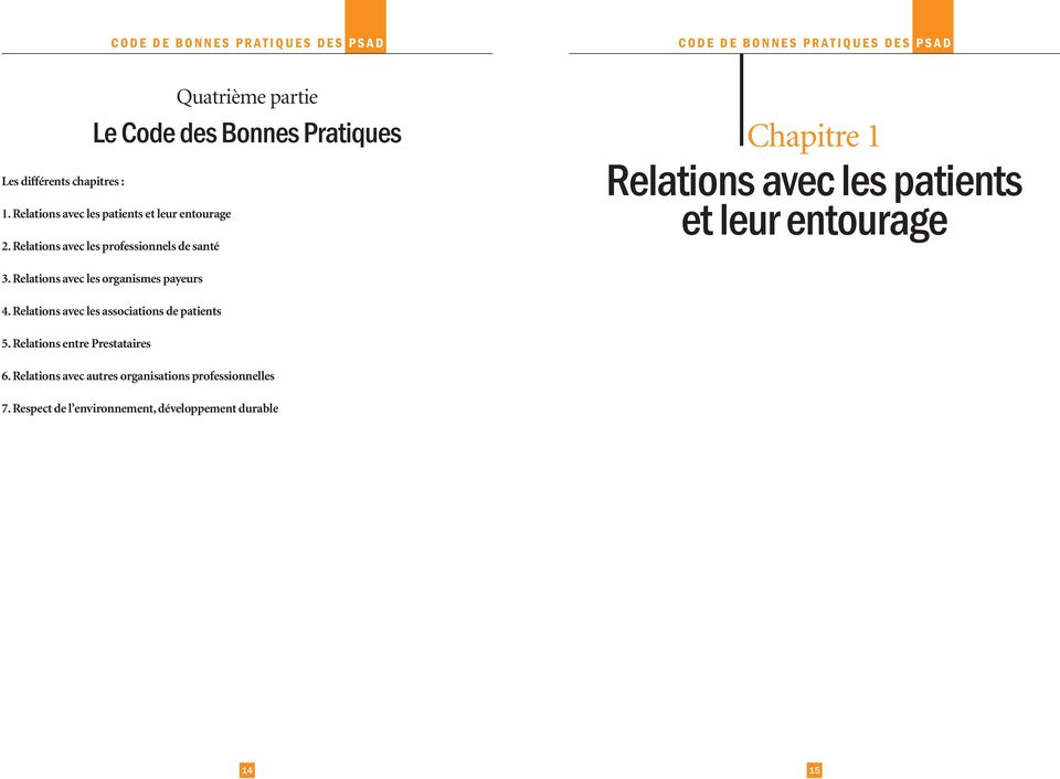 Relations avec les associations de patients 5.