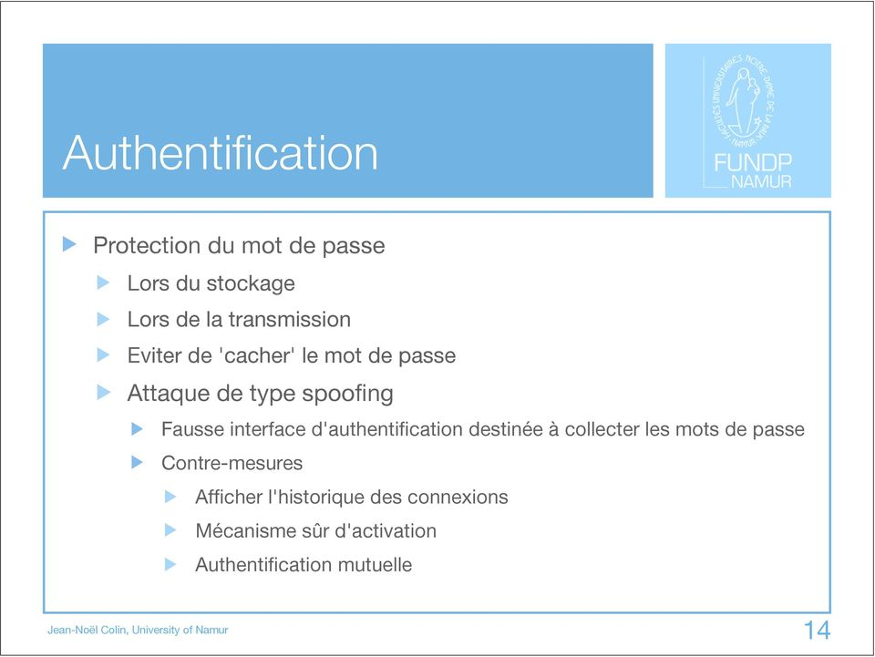 interface d'authentification destinée à collecter les mots de passe