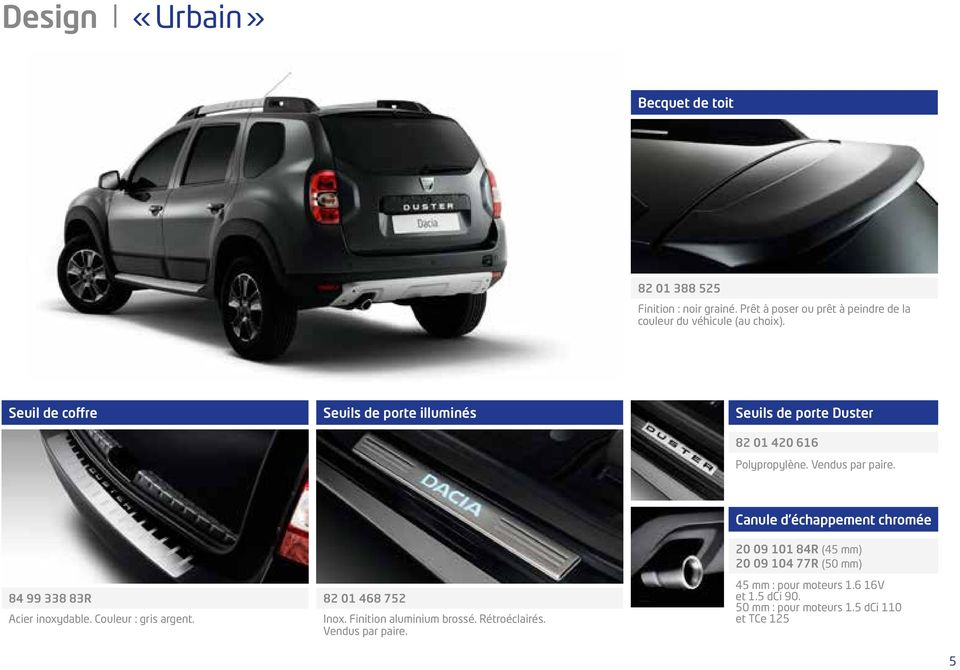 dacia duster gamme accessoires pdf. Black Bedroom Furniture Sets. Home Design Ideas