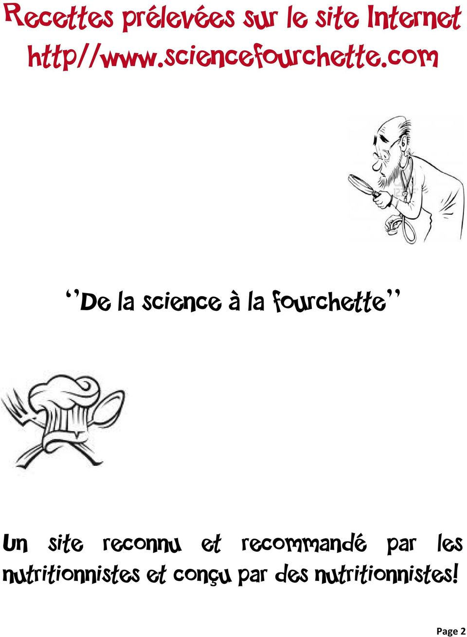 com De la science à la fourchette Un site