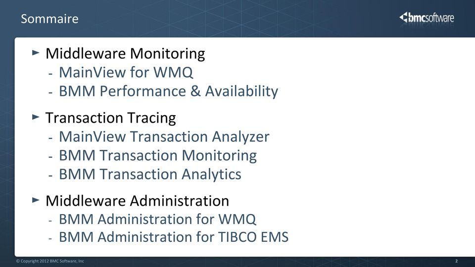 Transaction Monitoring - BMM Transaction Analytics Middleware Administration -