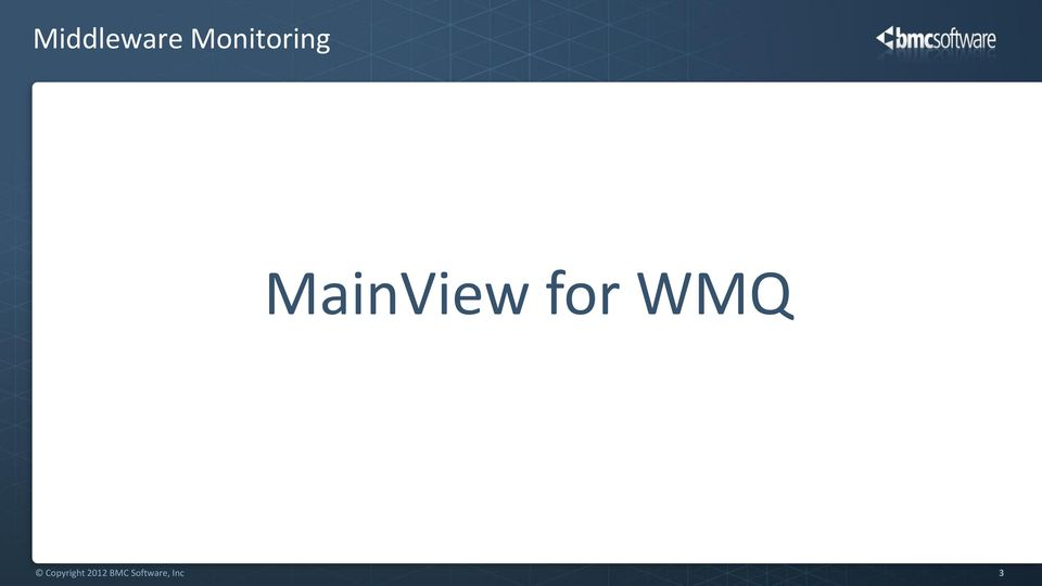 MainView for WMQ