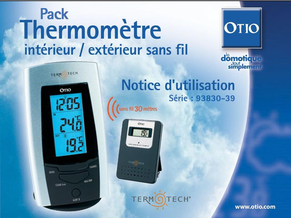 Thermom tre int rieur ext rieur sans fil notice d for Thermometre sans fil interieur exterieur