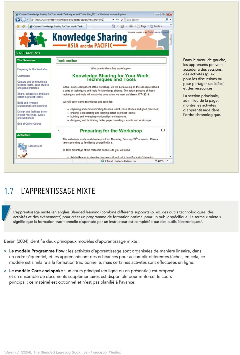 7 L apprentissage mixte L apprentissage mixte (en anglais Blended learning) combine différents supports (p. ex.
