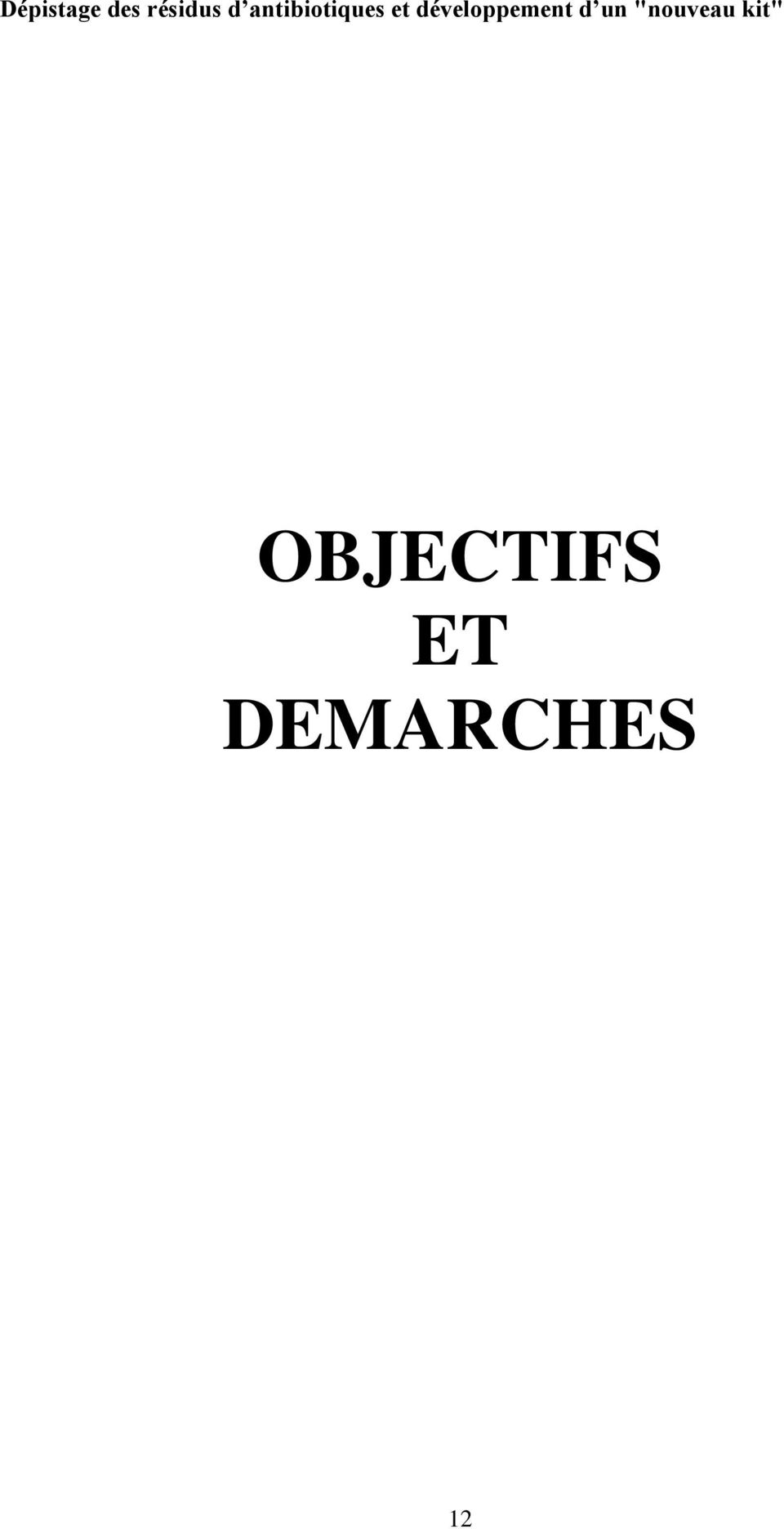 DEMARCHES