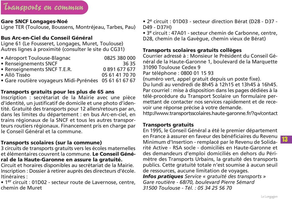 nseignements SNCF 36 35 Re