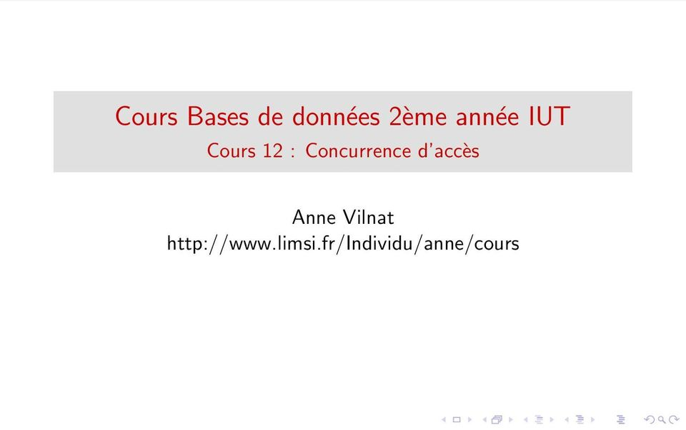 Concurrence d accès Anne