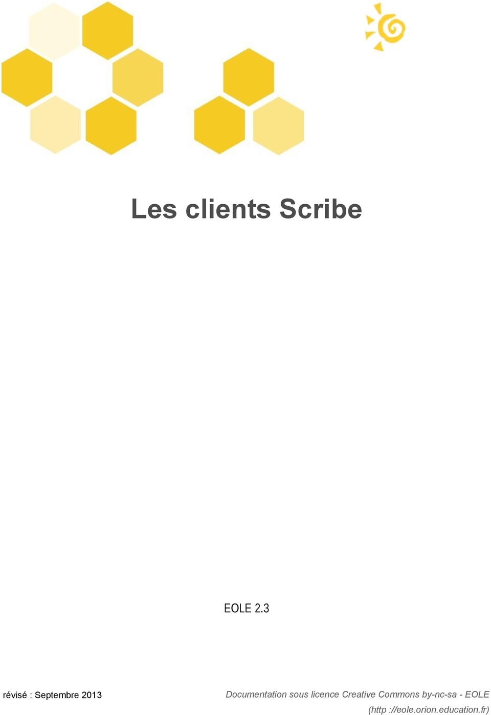 Documentation sous licence Creative