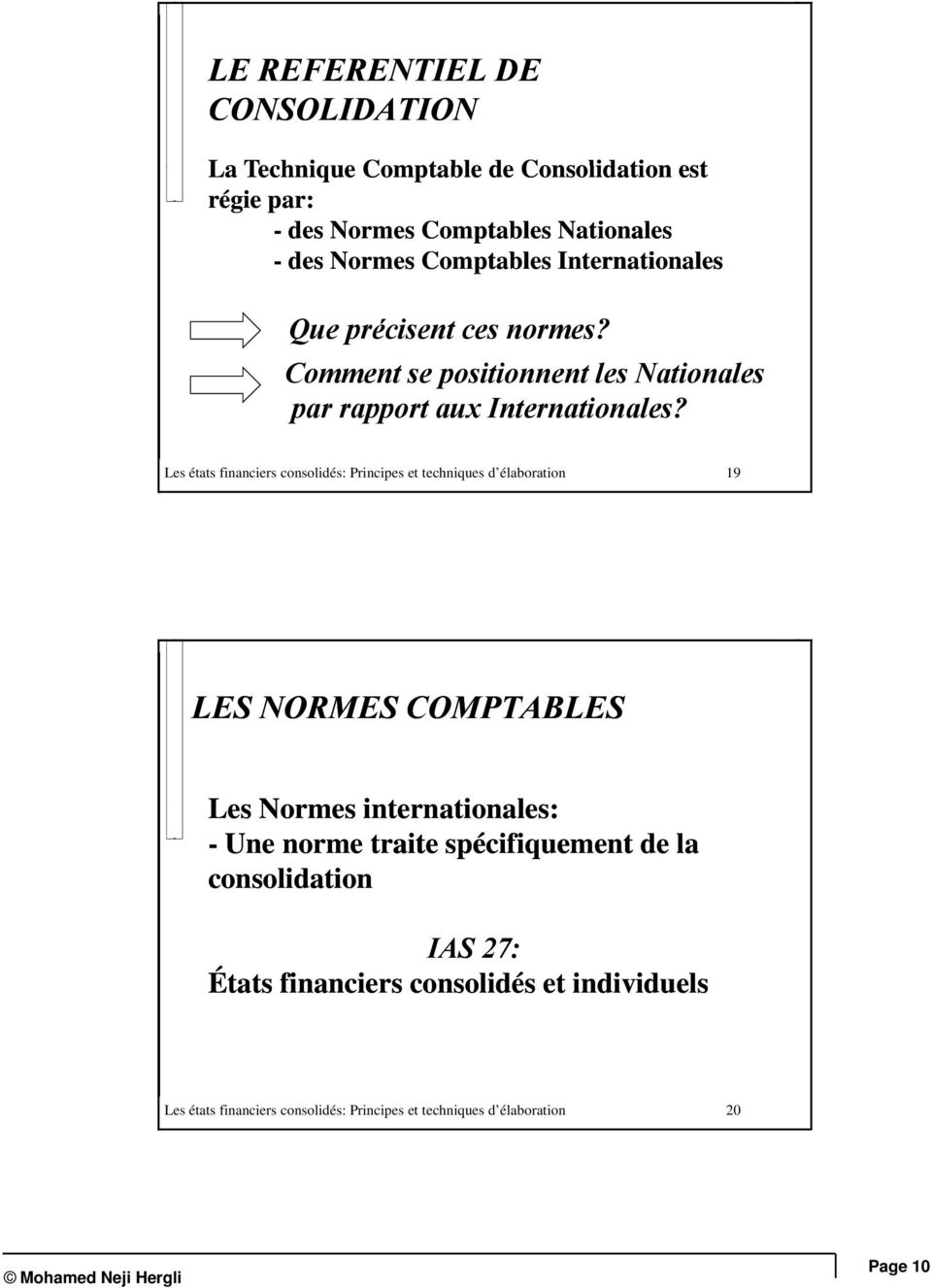 Comment se positionnent les Nationales par rapport aux Internationales?