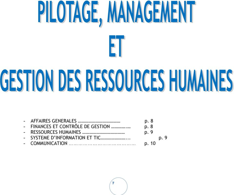 8 - RESSOURCES HUMAINES p.