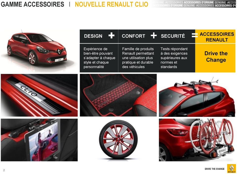 nouvelle renault clio gamme accessoires pdf. Black Bedroom Furniture Sets. Home Design Ideas