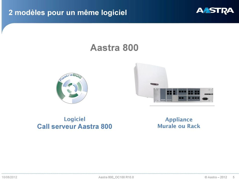 Aastra 800 Appliance Murale ou