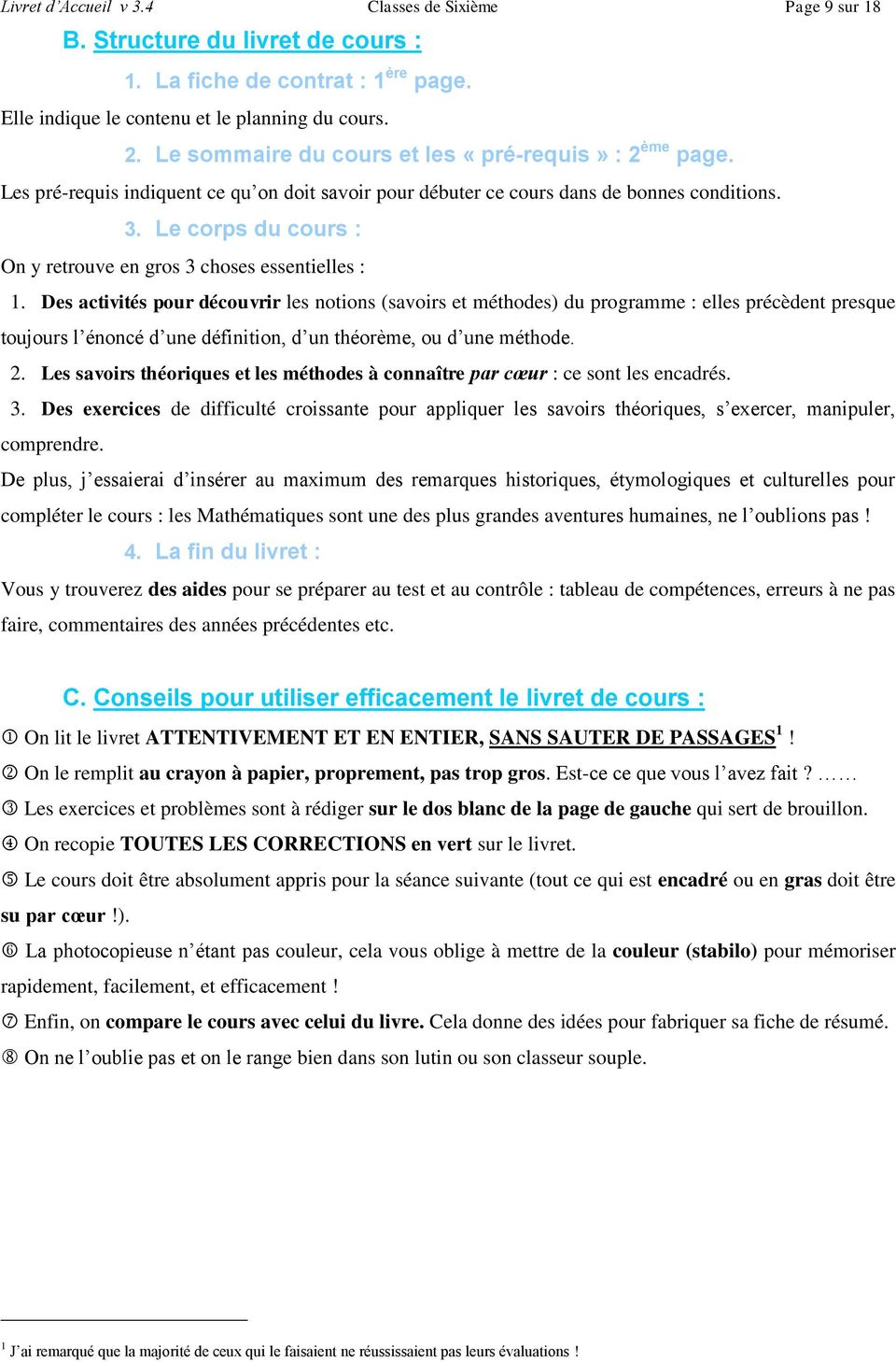 I le mat riel 2 d roulement d un contrat 4 for Definition du reglement interieur