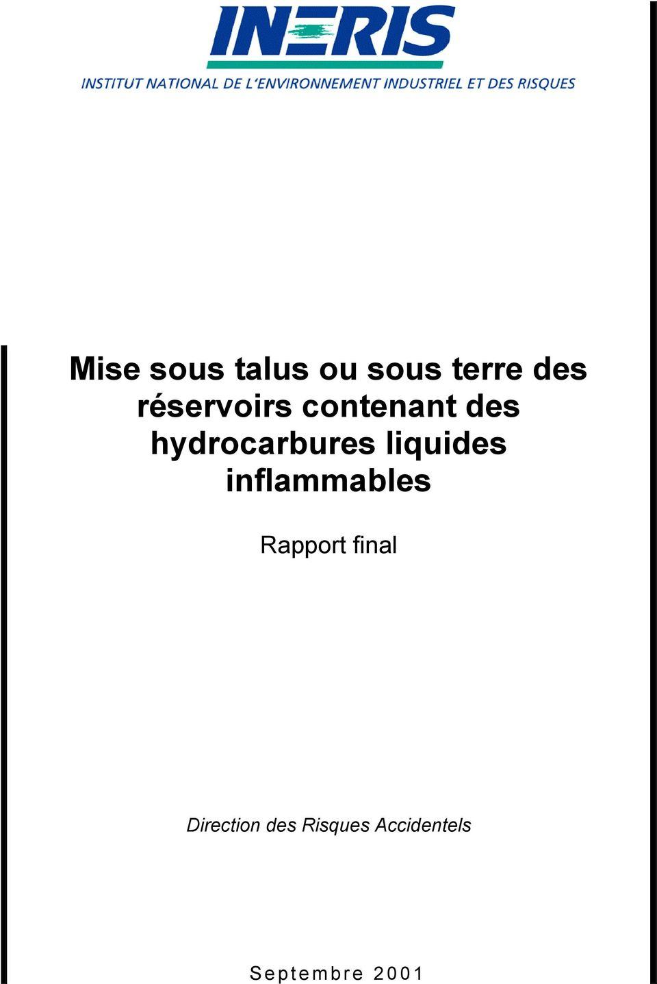 liquides inflammables Rapport final