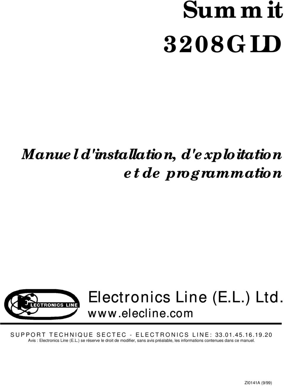 com SUPPORT TECHNIQUE SECTEC - ELECTRONICS LINE: 33.01.45.16.19.