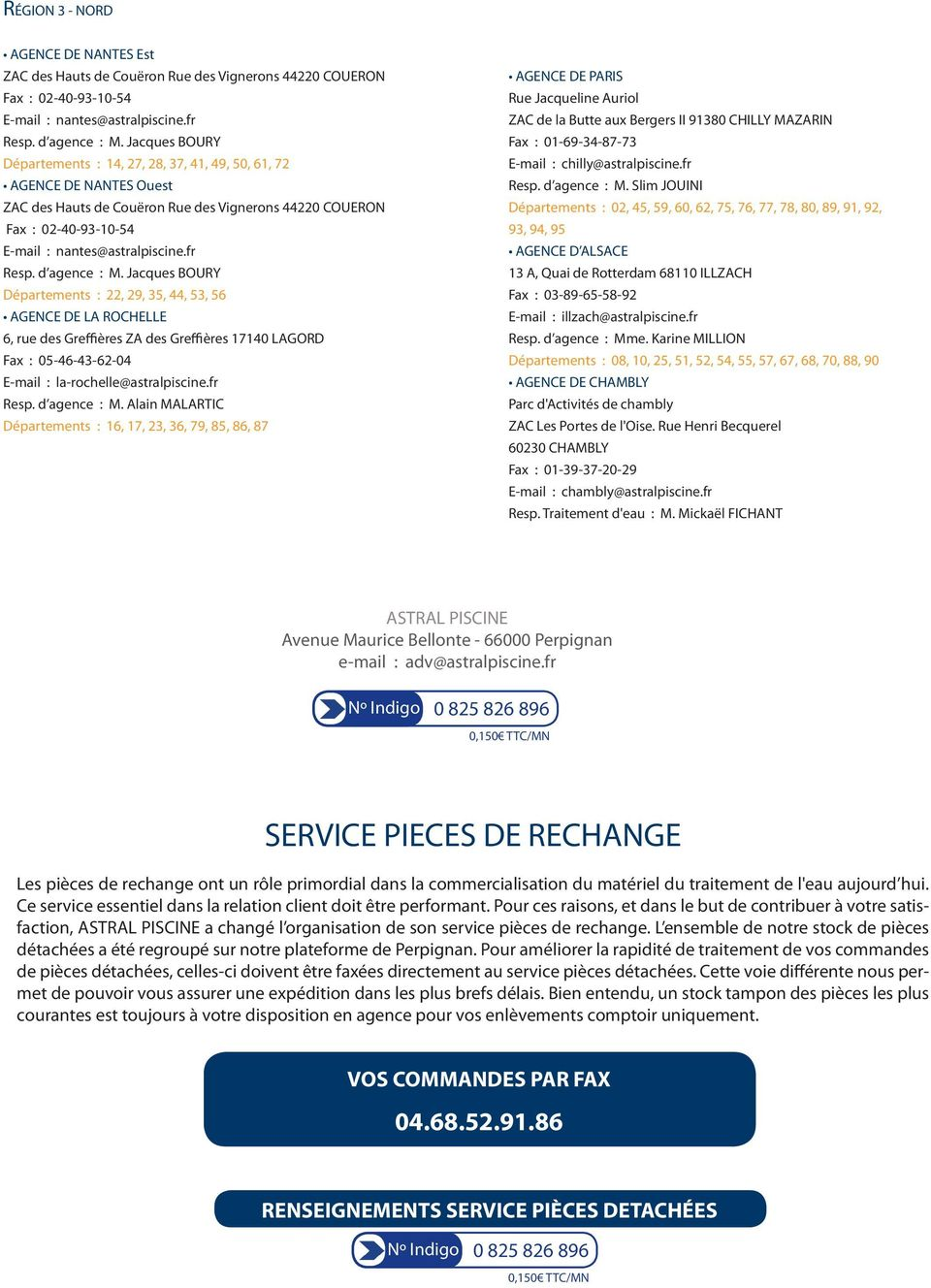 Traitement d eau catalogue tarif pdf for Astral piscine perpignan