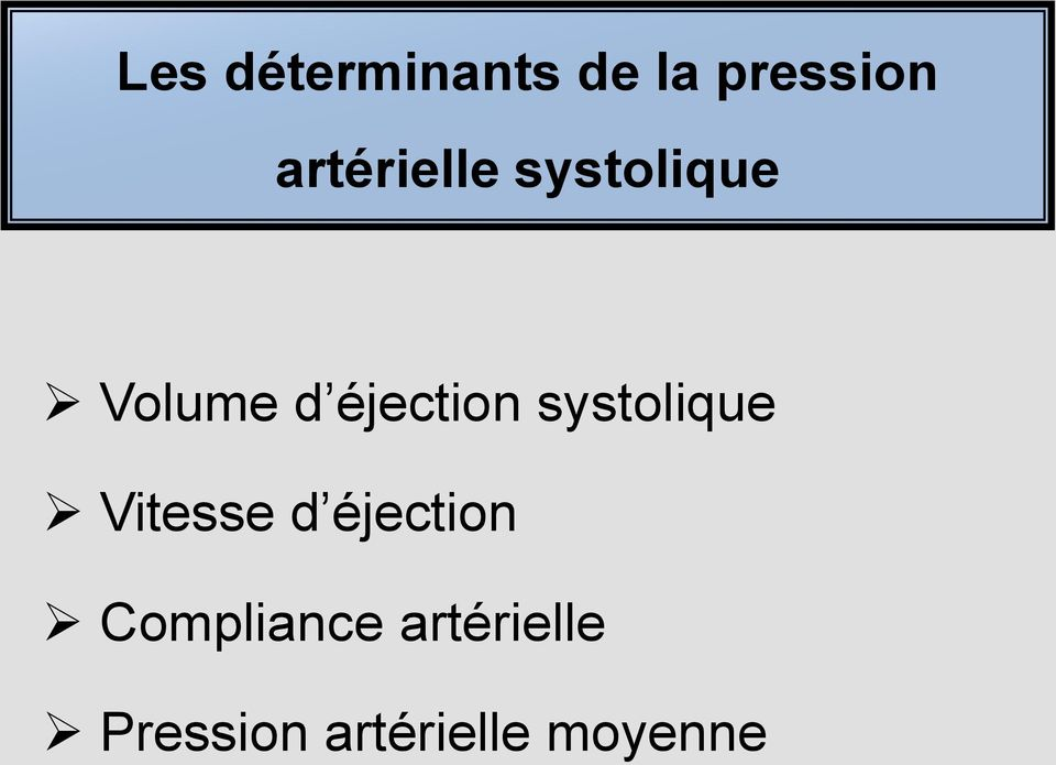 éjection systolique Vitesse d
