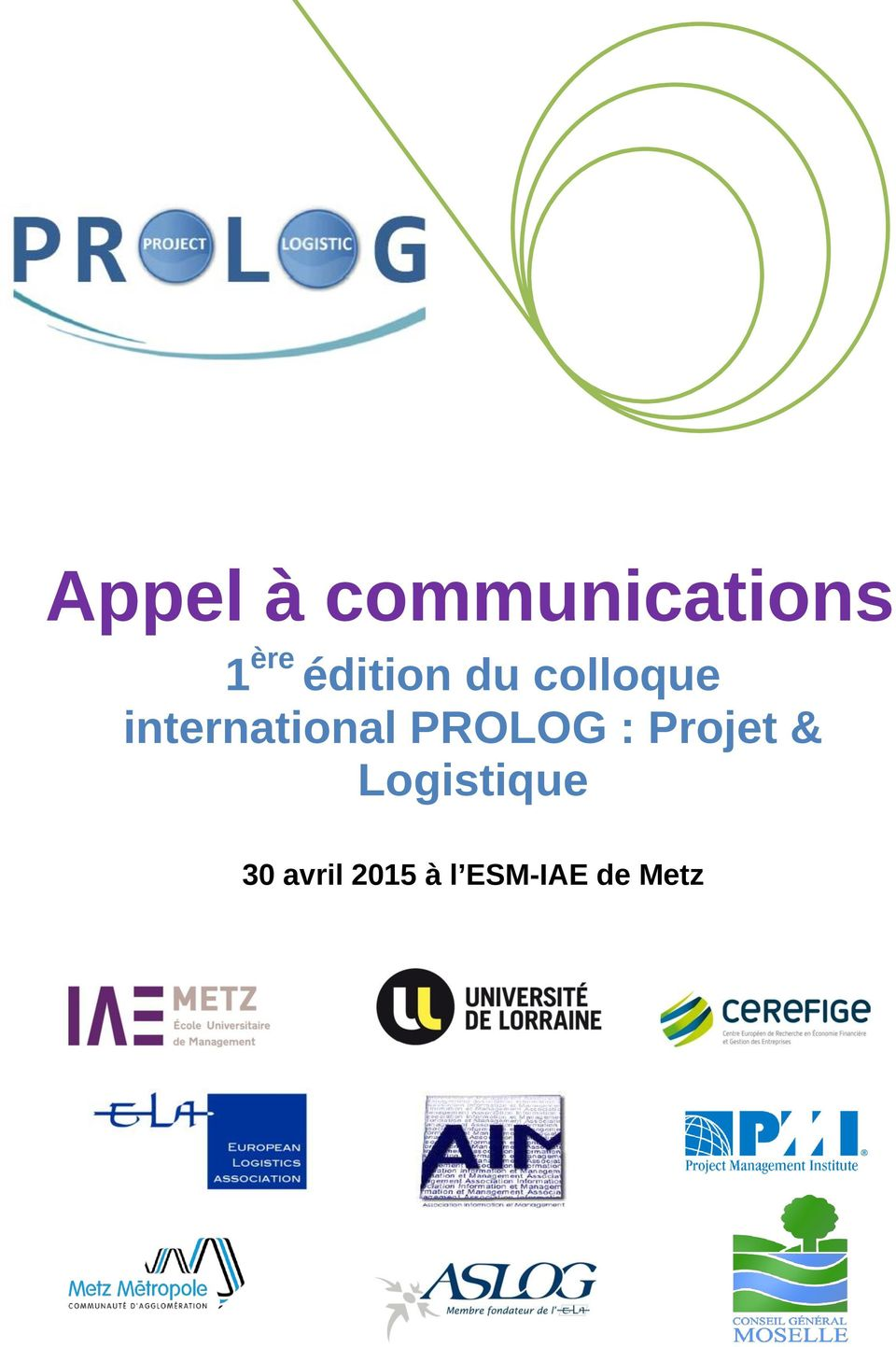 international PROLOG : Projet &
