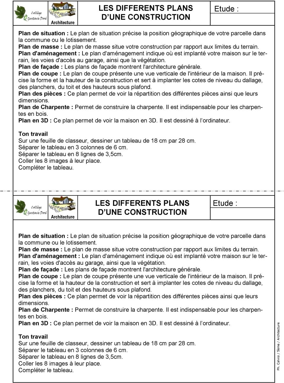 Les differents plans d une construction les differents for Les plans de lowe