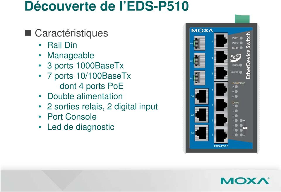 dont 4 ports PoE Double alimentation 2 sorties