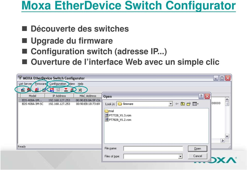 firmware Configuration switch (adresse IP.