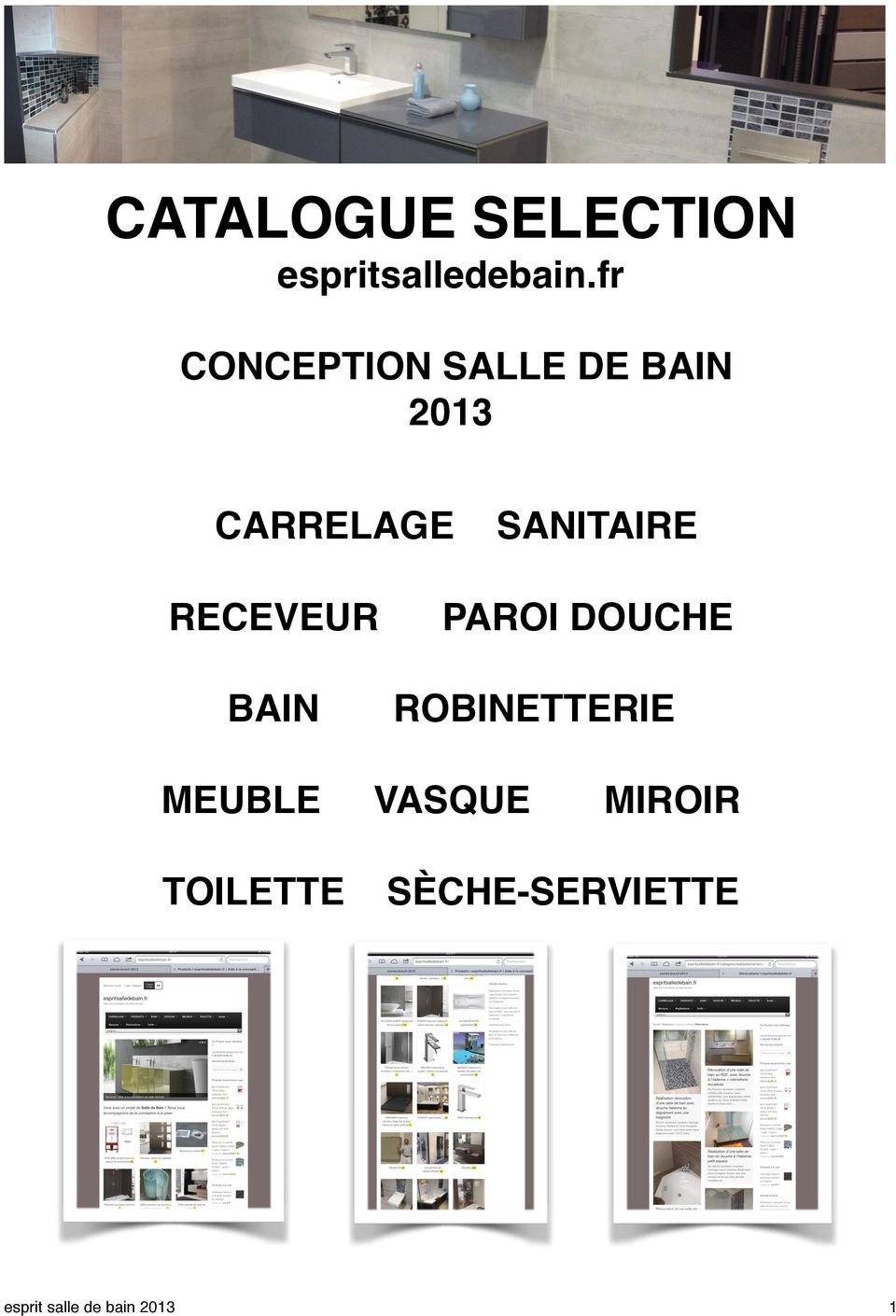 Catalogue selection pdf for Catalogue carrelage salle de bain
