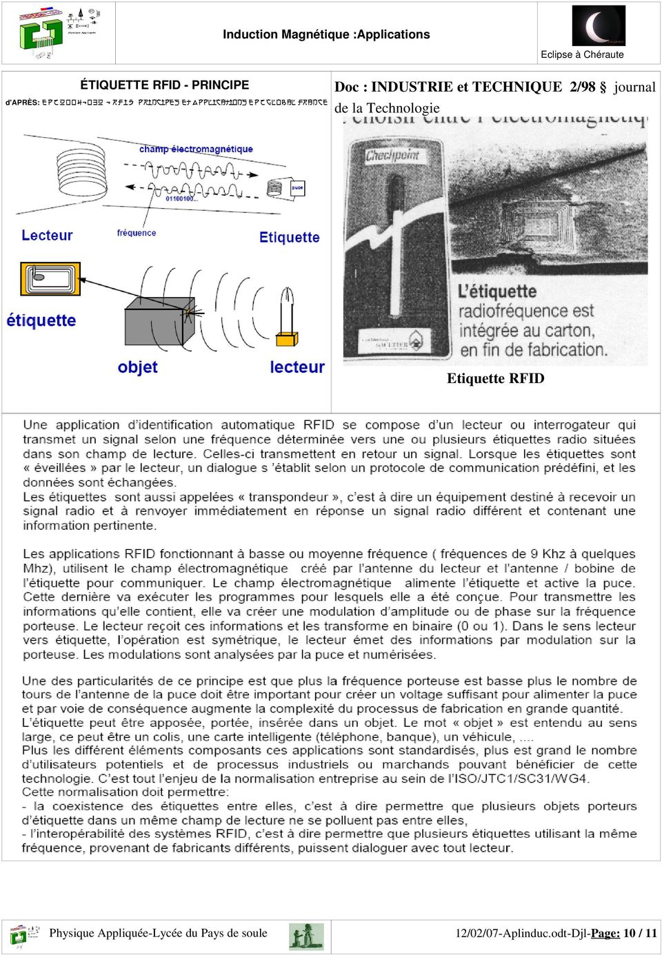 : INDUSTRIE et TECHNIQUE 2/98 journal de la