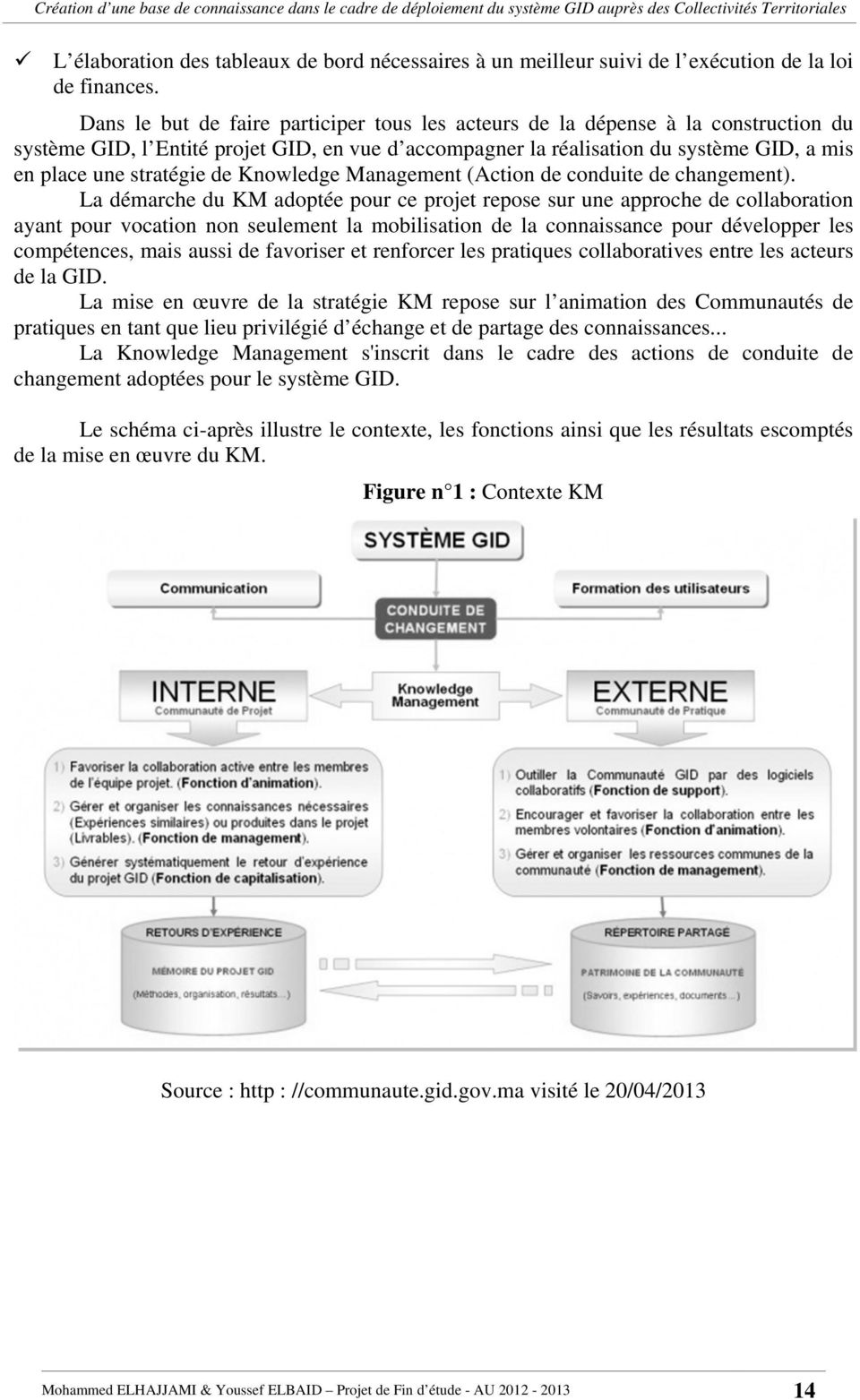 de Knowledge Management (Action de conduite de changement).