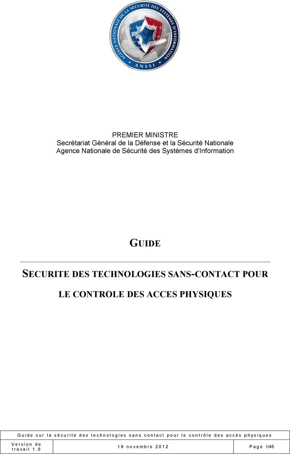 Information GUIDE SECURITE DES TECHNOLOGIES SANS-CONTACT POUR