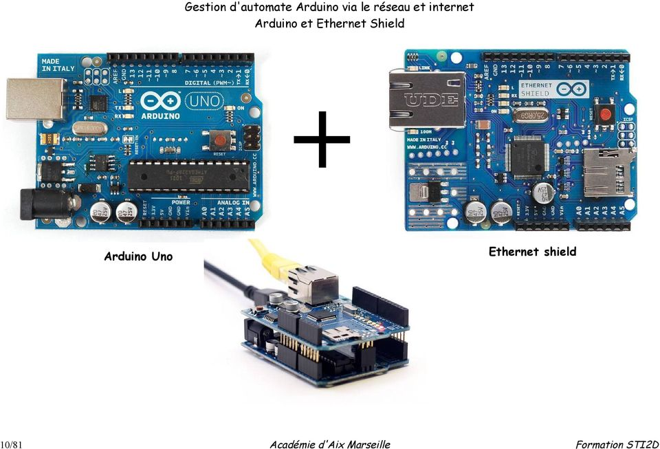 Arduino et Ethernet Shield