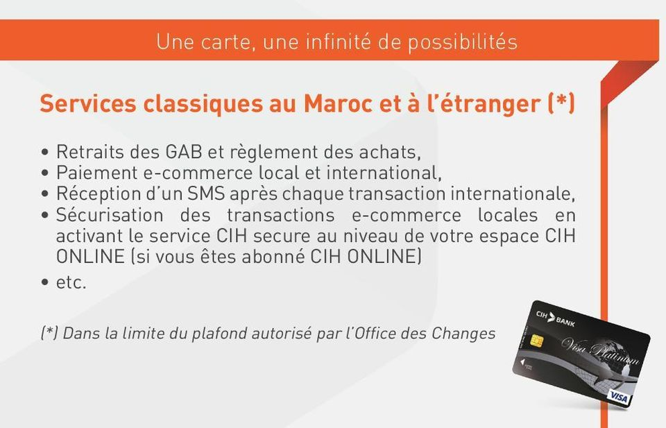 internationale, Sécurisation des transactions e-commerce locales en activant le service CIH secure au niveau de